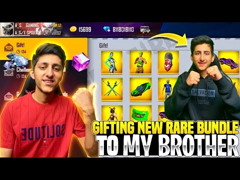 Gifting New Rare Bundle To My Brother Worth 10,000 Diamond 💎😍 Op Reaction - Garena Free Fire