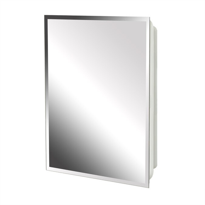 Project Source 16 In X 20 In Rectangle Surface Recessed Mirrored Medicine Cabinet In The Medicine Cabinets Department At Lowes Com