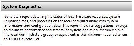 Description of Health Report