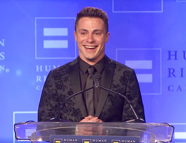 Image result for Colton Haynes Receives the HRC Visibility Award : 2016