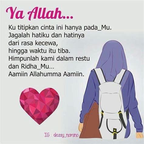 kartun muslimah jatuh cinta cinta sejati  allah