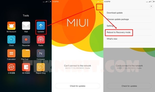 Masuk Recovery Mode Xiaomi Redmi Note 2 MIUI 6