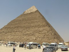Pyramid with limestone casing