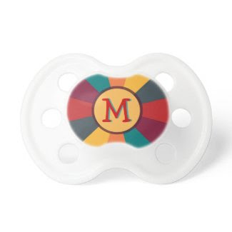 Circus Colors Monogram Personalized Pacifier