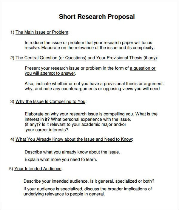 how to write research paper proposal