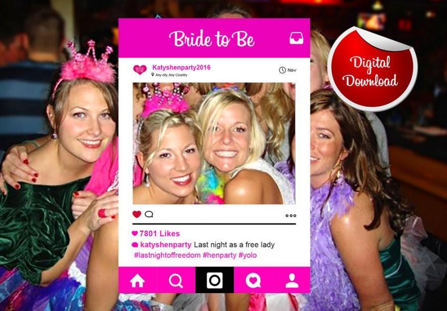 Hen Party Instagram Custom Design Photo Frame Prop Bachelorette