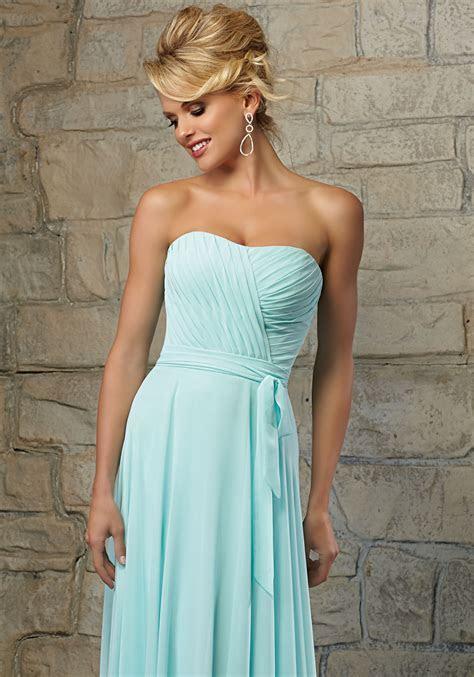 Delicately Draped Chiffon Morilee Bridesmaid Dress   Style
