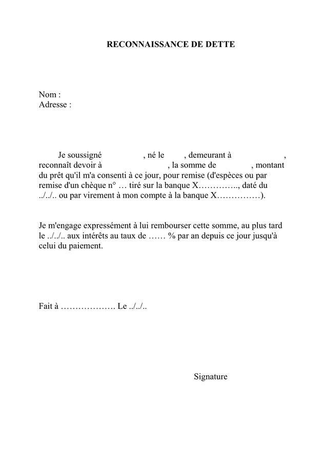 Exemple De Lettre De Remise De Dette - Exemple de Lettre