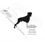 Boxer Dog Silhouette Yard Art Woodworking Plan - fee plans from WoodworkersWorkshop® Online Store - Boxer dogs,pets,animals,yard art,painting wood crafts,scrollsawing patterns,drawings,plywood,plywoodworking plans,woodworkers projects,workshop blueprints