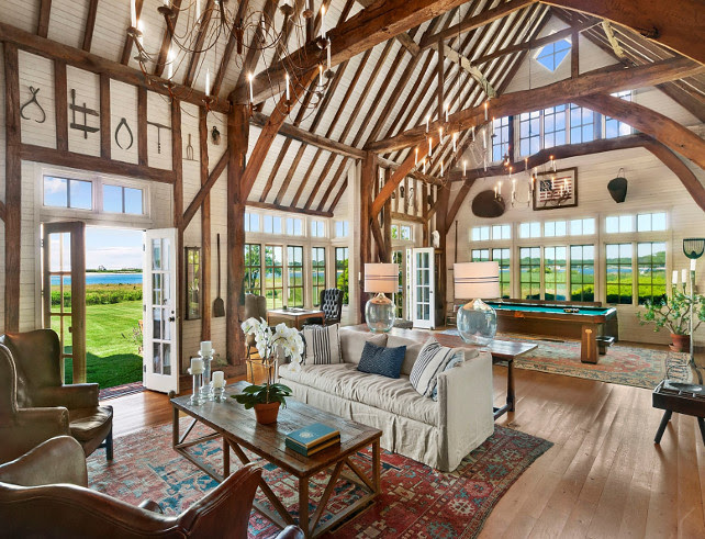 Open Concept Living Room. Rustic Open Concept Living Room.  Rustic Open Concept Living Room with Vault Ceiling with Trusses. #OpenConcept #OpenConceptLivingRoom #RusticLivingRoom #VaultCeiling #Trusses