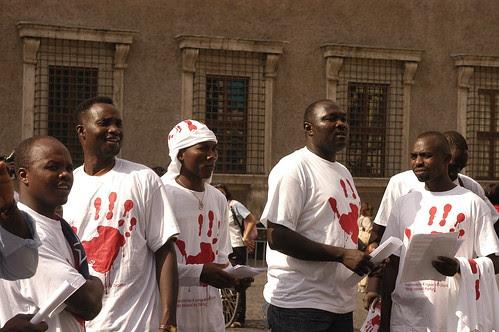 Darfur protest in Rome III