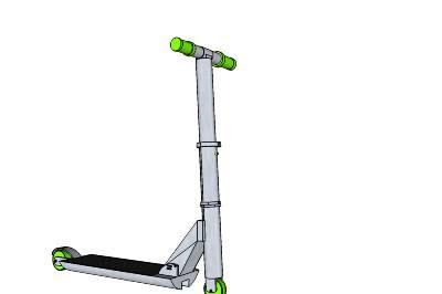 dessin en 3 dimensions de trottinette