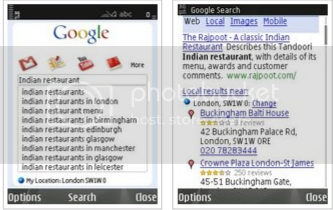 Google Mobile App for Nokia S60 smartphones
