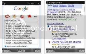 Google Mobile App for Nokia S60 smartphones