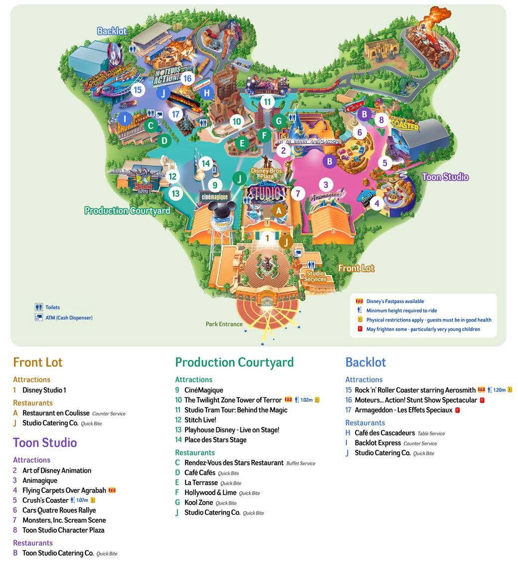 Plan parc Walt Disney