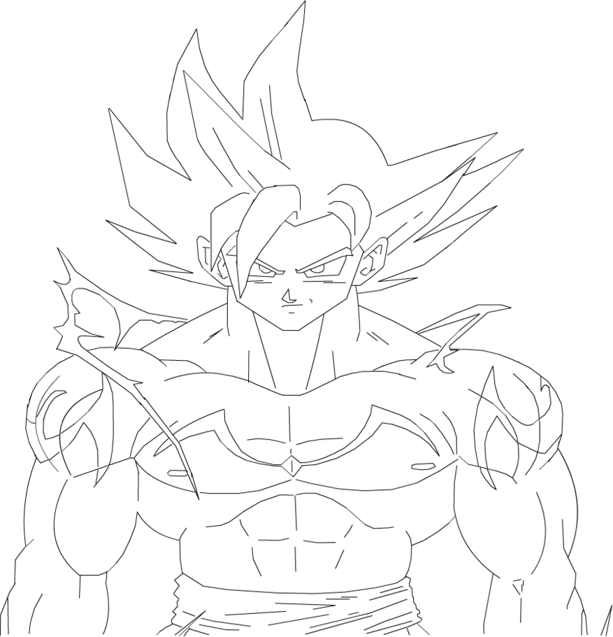 930 Top Dragon Ball Z Coloring Pages Goku Super Saiyan God Images & Pictures In HD