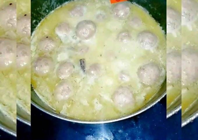 Recipe of Ultimate White Gravy Butter Kofte🍲