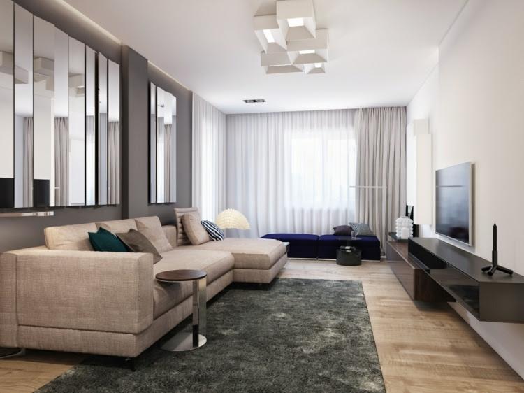 Wohnzimmer Ideen 2015 - Einrichten mit Neutralfarben