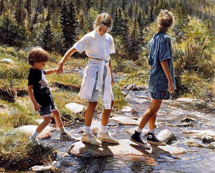 Steve Hanks, aquarelas