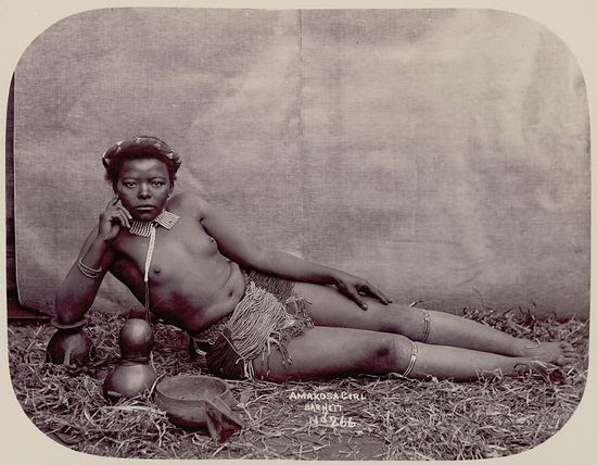 J Barnett and Co Young Xosa Woman in Costume National Anthropological Archives Smithsonian