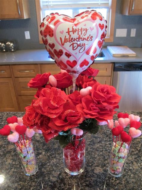 frugal valentines day decor table centerpiece total