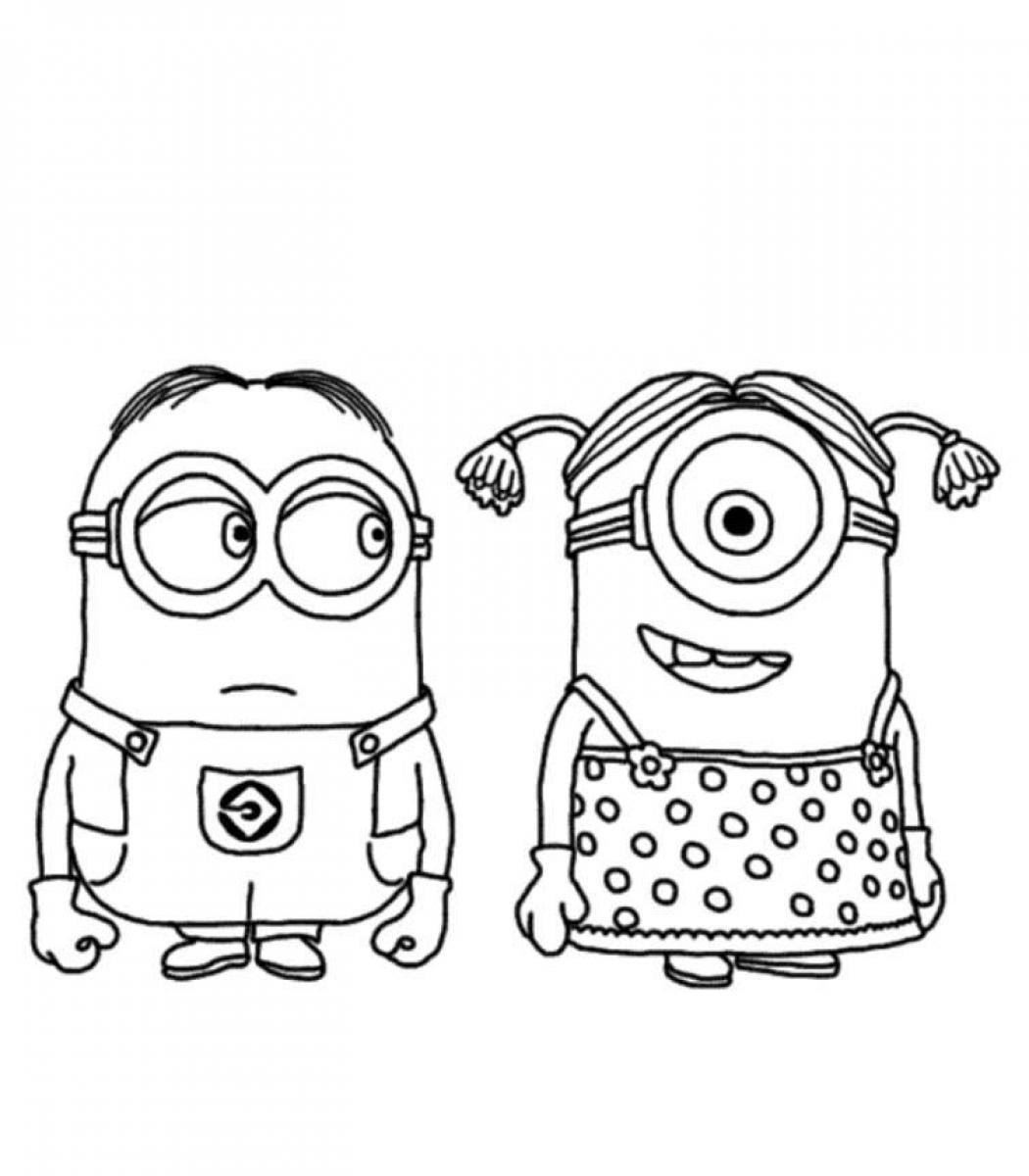 Coloring Pages For Kids Minions At Getcoloringscom Free Printable