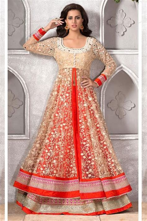 Latest Anarkali Frock Fashion Suits With Churidar Designs