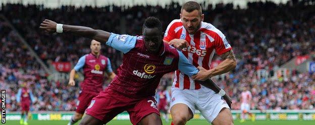 Aston Villa defender Aly Cissokho