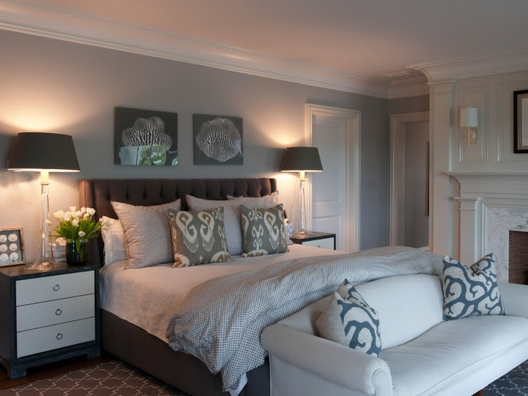 Gray Bedroom - Contemporary - bedroom - Nightingale Design