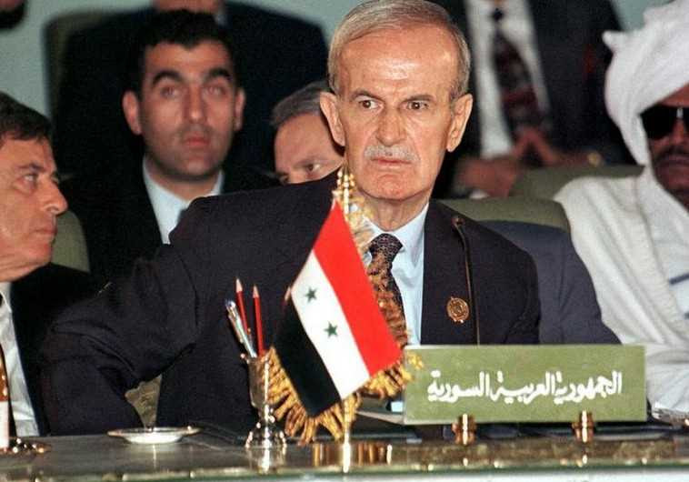 Late Syrian president Hafez Assad seen here at an Arab League summit in 1996