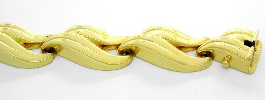 Foto 1, Neu! Wunderschönes Designer-Armband Gelbgold 14K Luxus!, K2835
