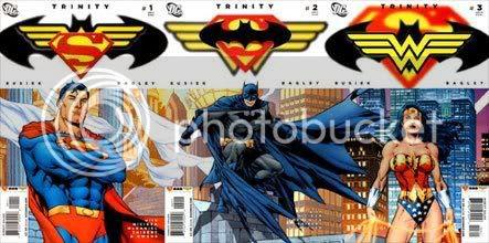 Tríptico de portadas de Trinity #1 a #3