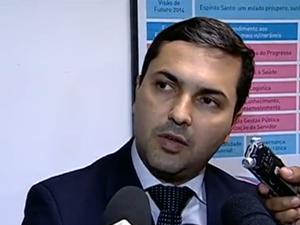Secretário Tyago  Hoffman (Foto: Reprodução / TV Gazeta)