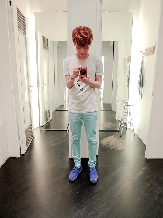 typicalben sky blue pants mirror