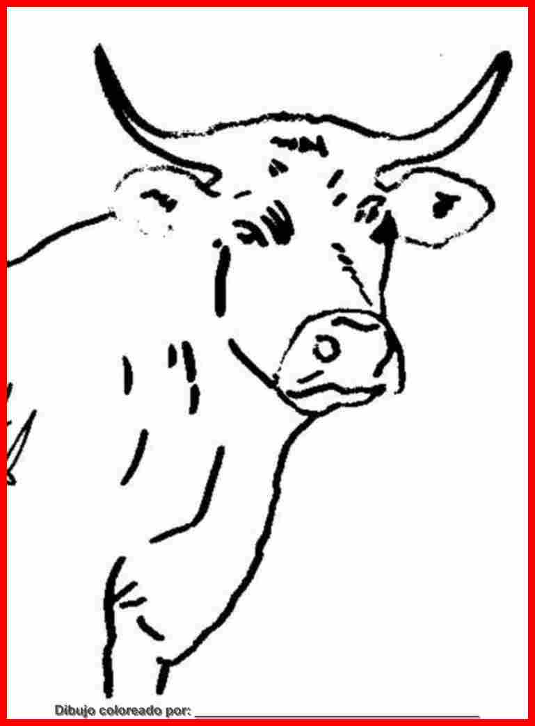 Dibujo De Vaca Para Colorear E Imprimir