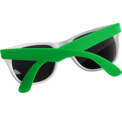 Custom White Framed Neon Sunglasses   EM900W   DiscountMugs