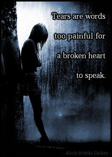 Tears Are Words Too Painful For A Broken Heart To Speak Picture Quotes