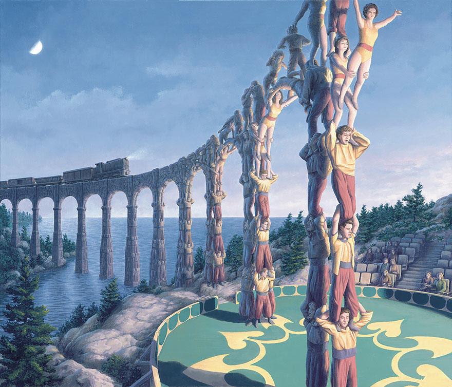 diaforetiko.gr : magic realism paintings rob gonsalves 18 880 33 Πίνακες Ζωγραφικής με οπτικές ψευδαισθήσεις που παίζουν με το μυαλό σου.