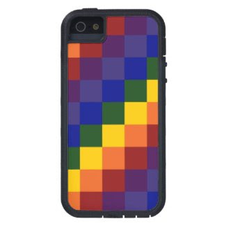 Checkered Rainbow Case For iPhone 5