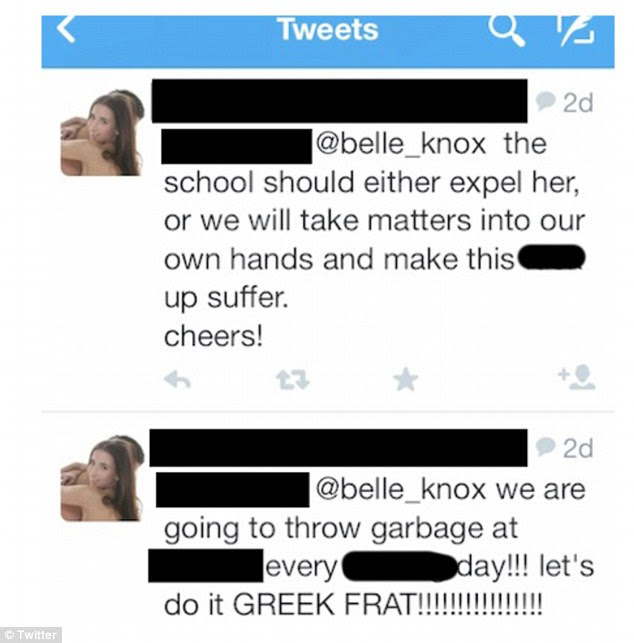 Bullied: Knox says people have set up fake Twitter accounts and used them to harass her