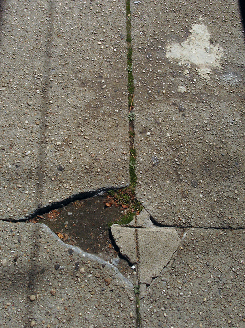 sidewalk divot