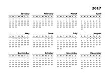2017 Yearly Calendar Templates - Download FREE Printable Calendar ...