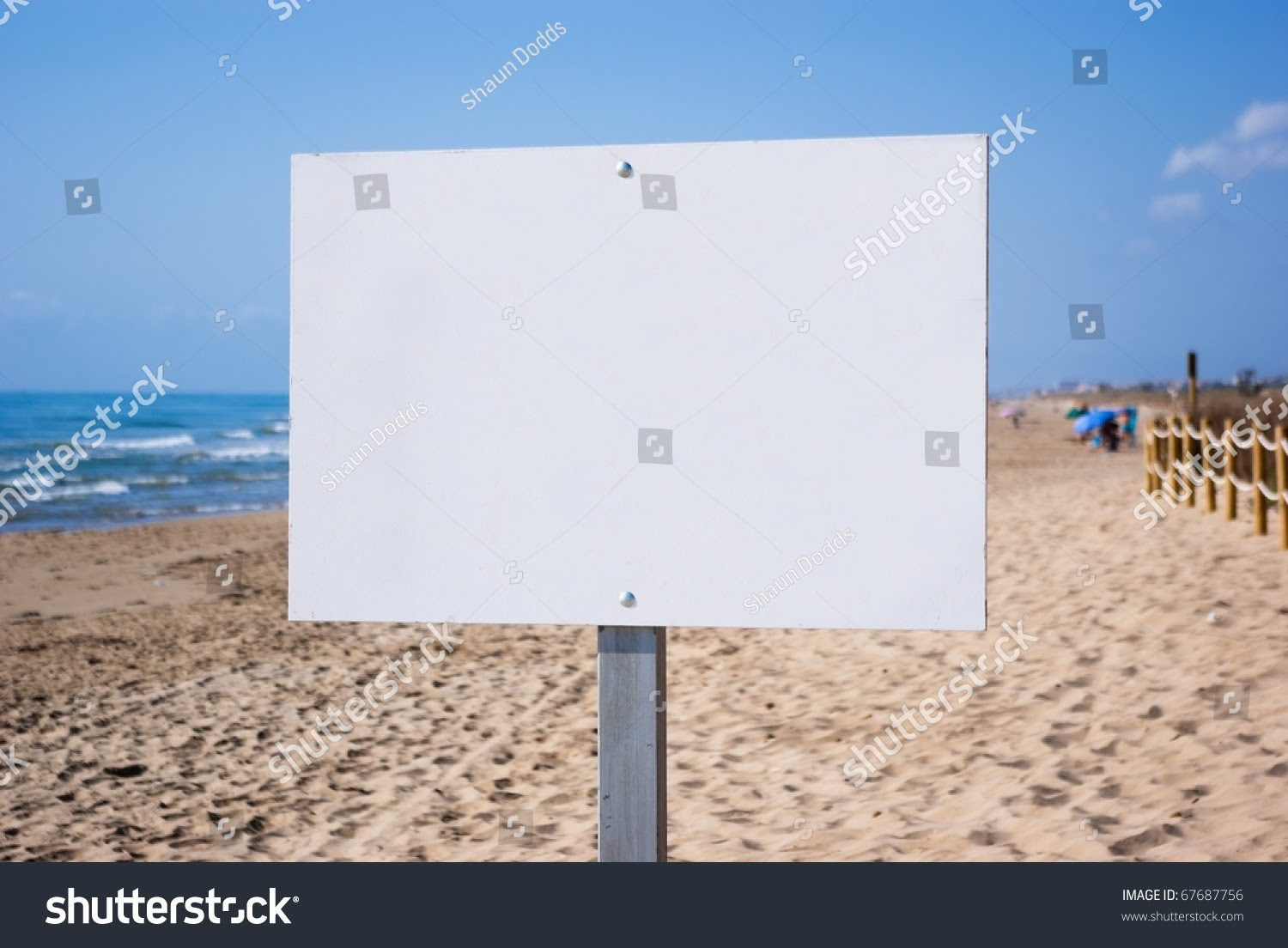Blank Sign On Beach Ready Your Stock Photo 67687756 - Shutterstock