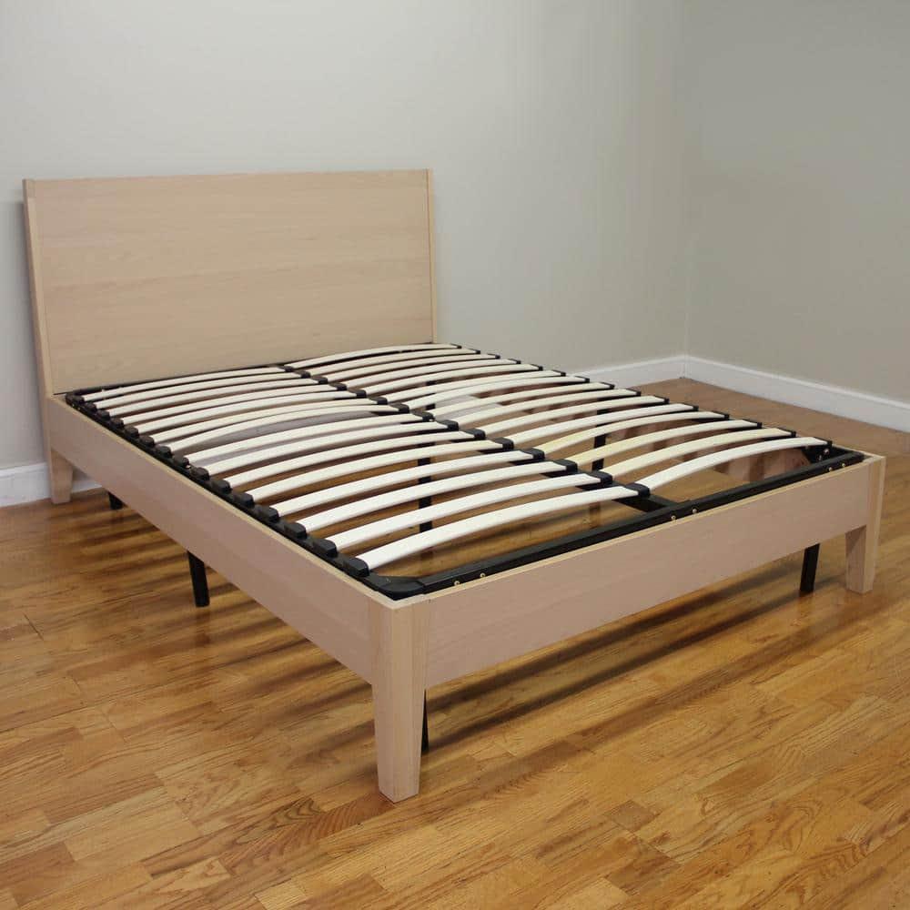Europa Twin-Size Wood Slat and Metal Platform Bed Frame ...