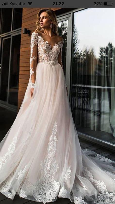 2019 Elegant Lace Off Shoulder Wedding Dress,Long Sleeves