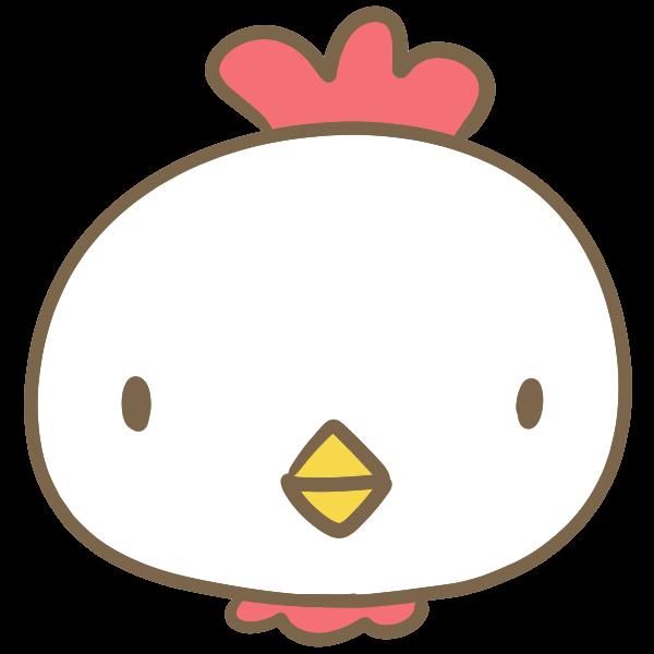 鶏の顔のイラスト かわいいフリー素材が無料のイラストレイン