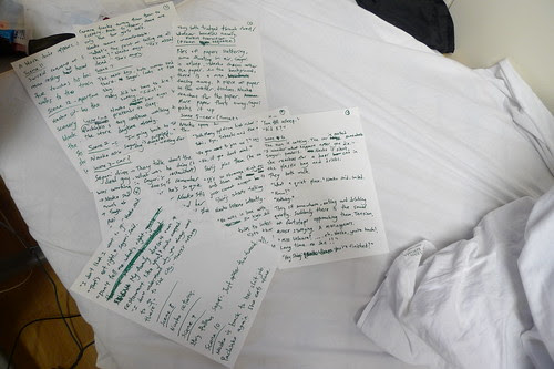 Handwritten treatment of my short film EXHALATION