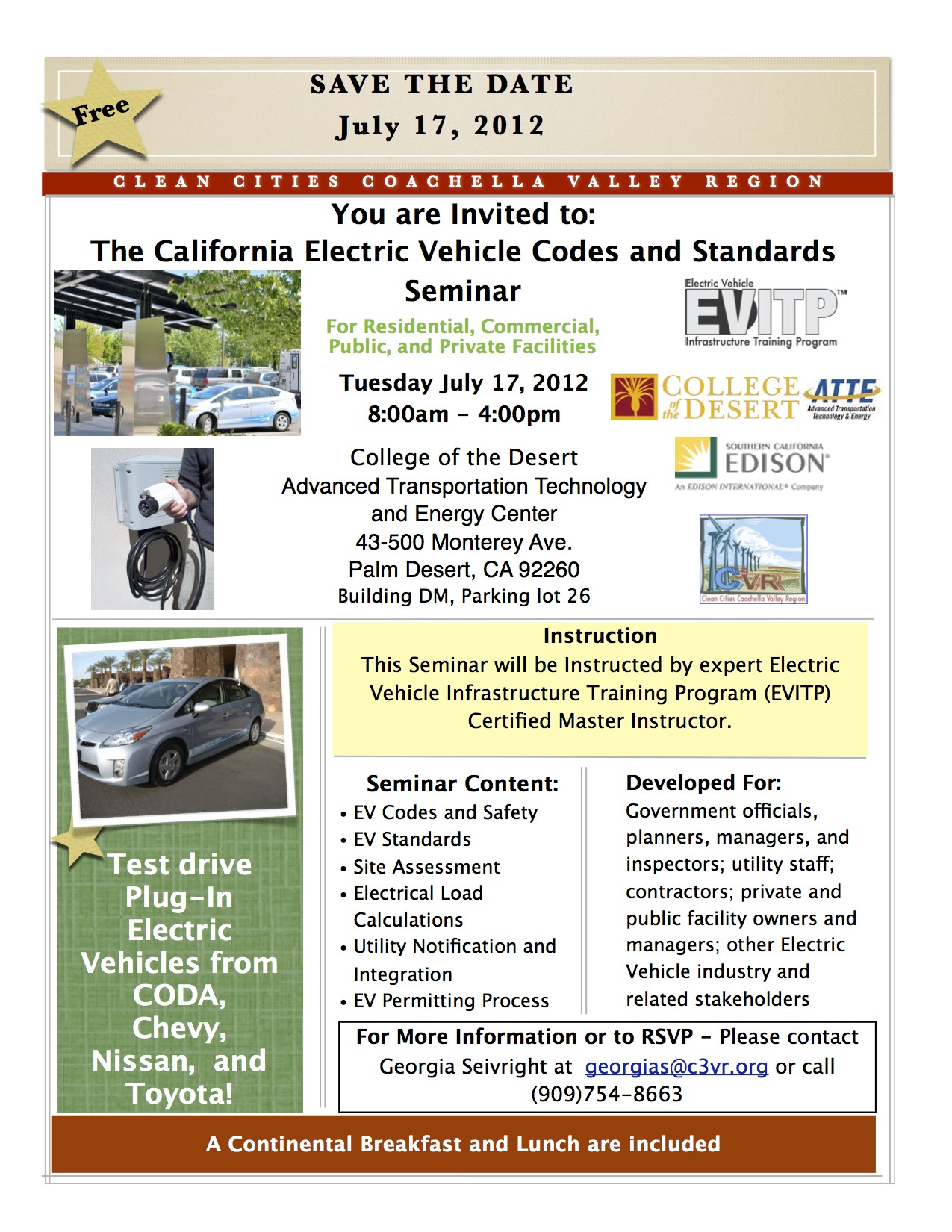 California Electric Vehicle Codes & Standards Seminar