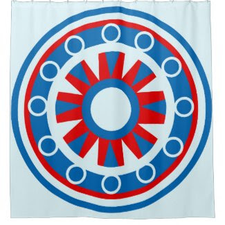 Nautical Design on Shower Curtain