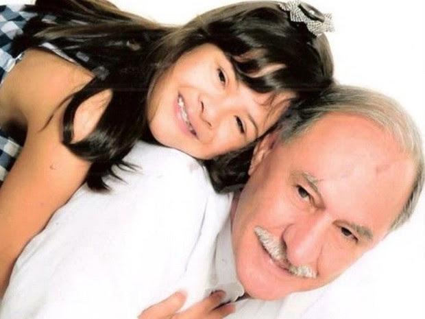 Fernandino Guimarães e a filha Marina (Foto: Fernandino Guimarães / Arquivo Pessoal)